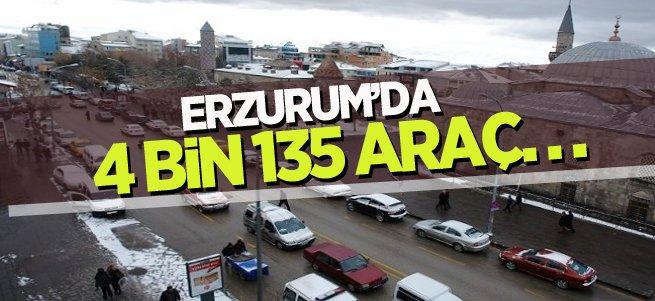 Erzurum'da 4 Bin 135 Araç Devredildi