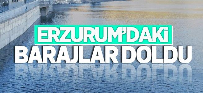 Erzurum'daki barajlar doldu