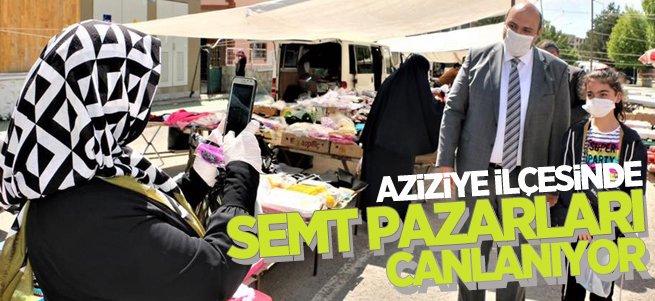 Aziziye'de semt pazarları canlanıyor