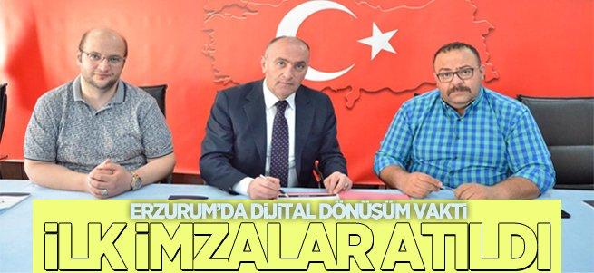 Erzurum'da Dijital Dönüşümde İlk İmza