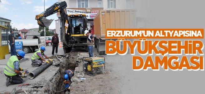 Erzurum'un altyapısına büyükşehir damgası