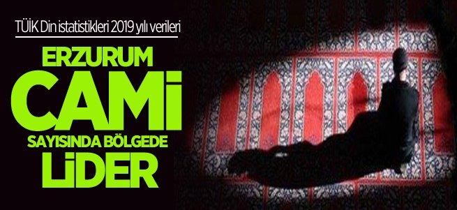 Erzurum cami sayısında bölgede lider il