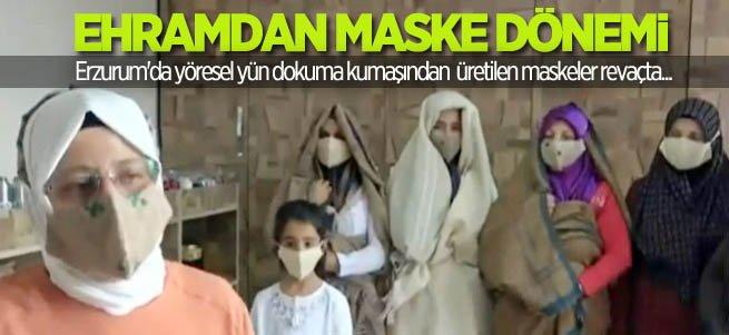 Ehramdan maske çok beğenildi