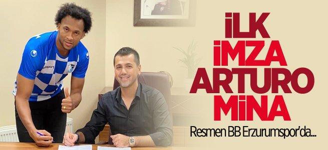 BB Erzurumspor'da Arturo Mina imzayı attı