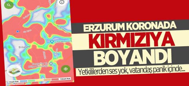 Erzurum koronada kırmızıya boyandı!