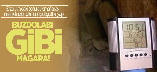 Erzurum'un buzdolabı gibi mağarası!