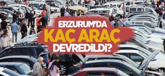 Erzurum'da 4 bin 702 araç devredildi
