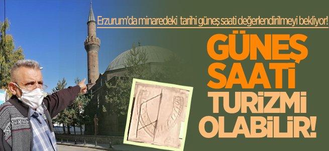Erzurum'daki güneş saati değerlendirilmeyi bekliyor!