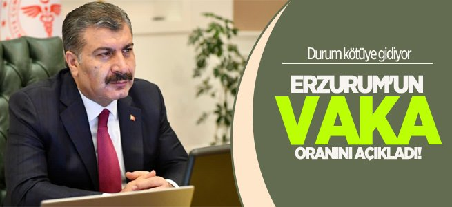 Bakan Koca Erzurum'un vaka oranını açıkladı