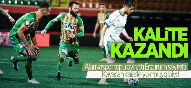 Alanyaspor topu oynattı Erzurum seyretti