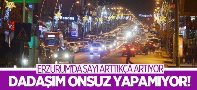 Erzurum araç sayısında yüzde 1.2'lik artış