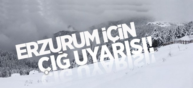 Meteoroloji'den Erzurum için çığ uyarısı