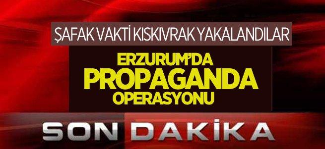 Erzurum'da şafak vakti terör operasyonu
