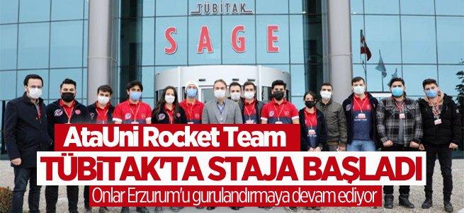 AtaUni Rocket Team TÜBITAK'ta staja başladı