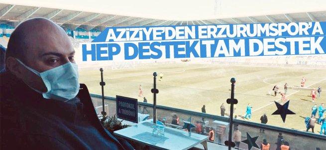 Aziziye'den Erzurumspor'a hep destek tam destek