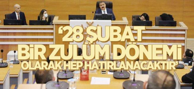 Başkan Sunar'dan 28 Şubat açıklaması