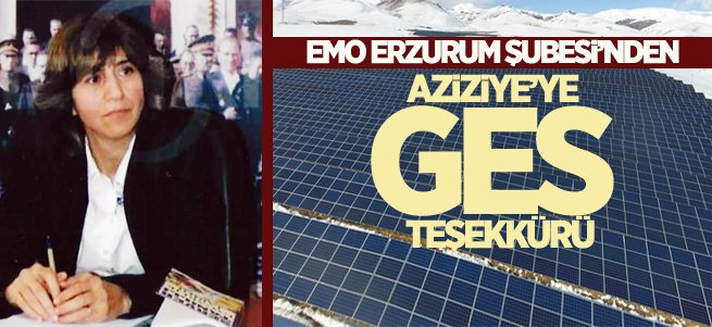 EMO Erzurum'dan Aziziye'ye GES teşekkürü