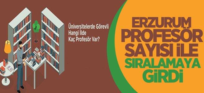 Erzurum 617 profesör ile Türkiye'de 6. sırada
