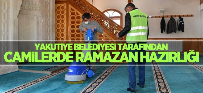 Yakutiye Belediyesi camileri Ramazana hazırlıyor