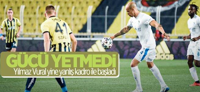 Erzurumspor'un Fenerbahçe'ye gücü yetmedi