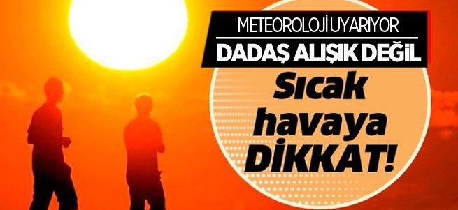 Erzurum sıcak hava etkili oluyor