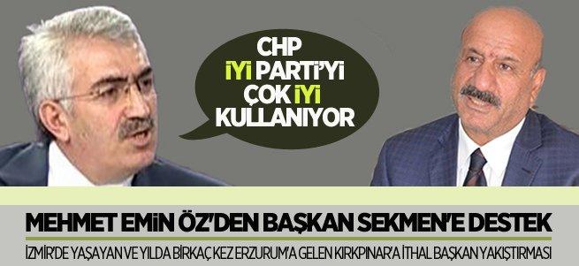 Mehmet Emin Öz'den Başkan Sekmen'e destek