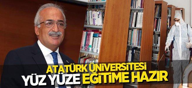 Atatürk Üniversitesi yüz yüze eğitime hazır