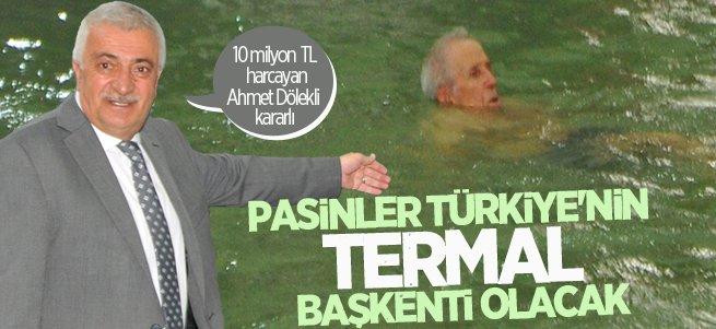 Ahmet Dölekli kararlı: Pasinler Türkiye'nin termal başkenti olacak