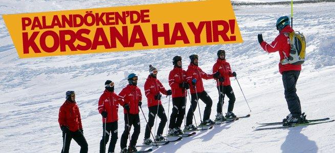 Palandöken'de korsan kayak öğreticiliğine son