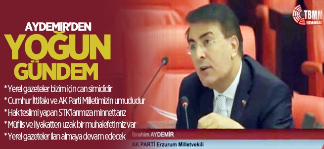 Milletvekili Aydemir'den yoğun gündem
